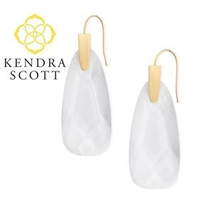 Kendra Scott CLEAR GLASS Earrings Maize